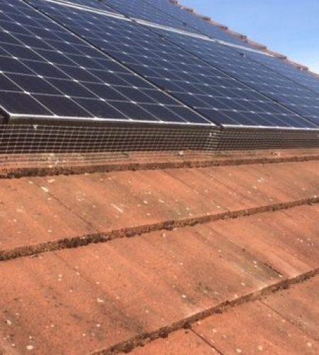 solar panel proofing using netting